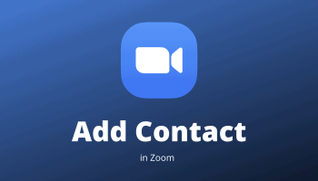 Add Contacts in Zoom