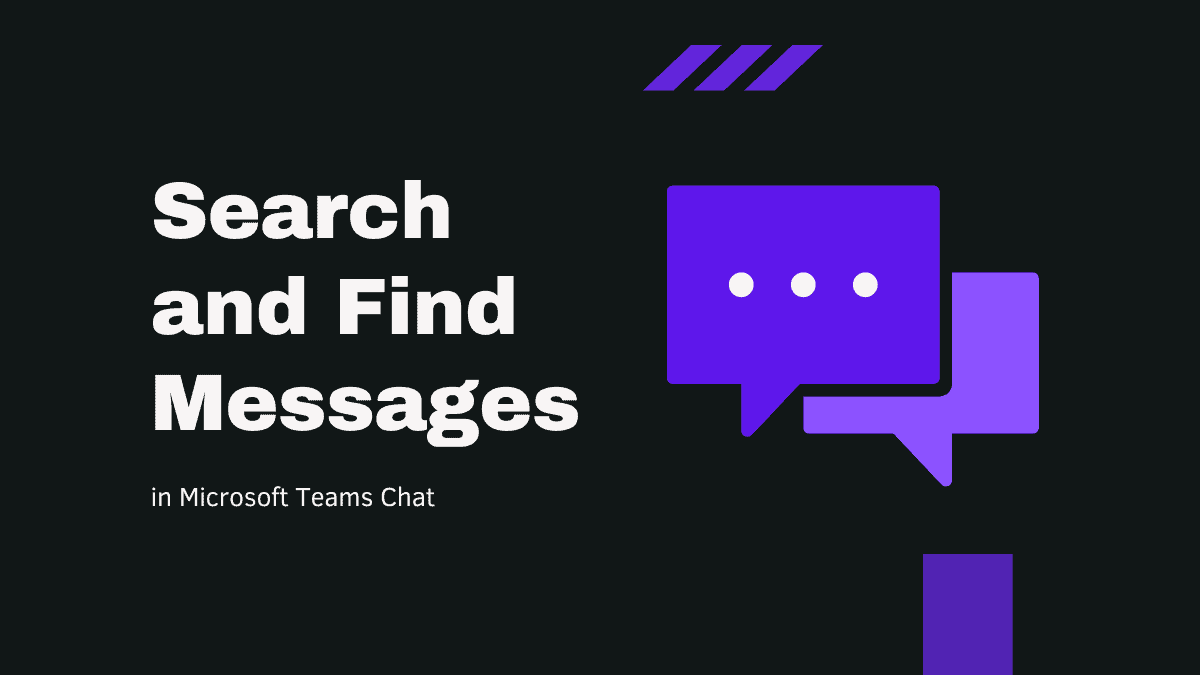 Search and Find Messages in Chat Microsoft Teams