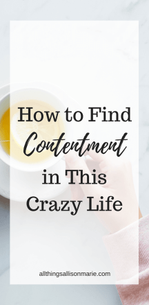How to find contentment in this crazy life!