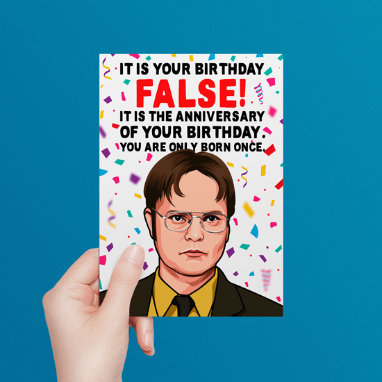 Dwight Schrute Birthday Card The Office All Things Banter