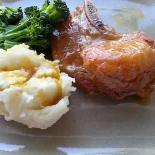 Pineapple Glazed Pork Chops