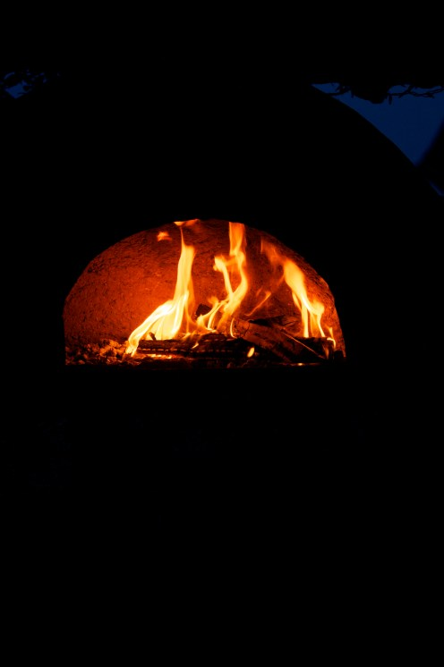 Wood-fired pizza on the farm