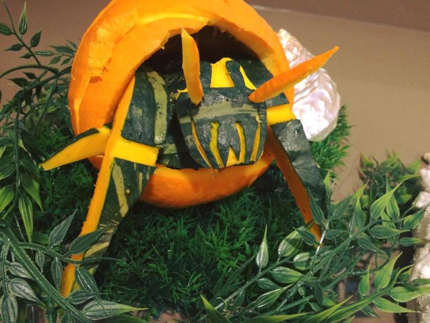 Amber's winning Crab O'Lantern entry