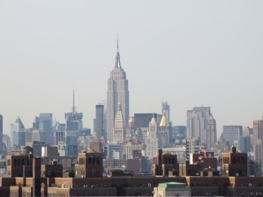 A picture of the Empire State Building taken with the Canon PowerShot N, which has an 8x zoom lens.
