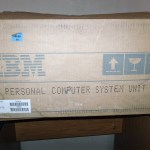Tom's IBM 5150 arrives packaged in its original boxes.