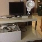 Ed's new computer workbench
