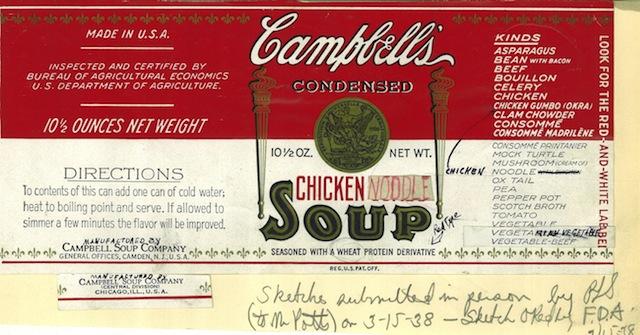 1938 Chicken Noodle Name Change Sketch CROP
