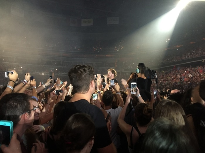 Dan Reynolds with audience