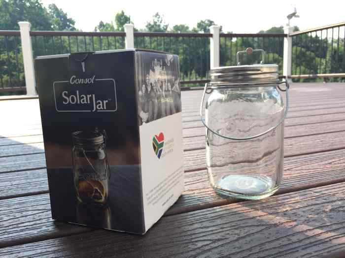 Consol Solar Jar outside