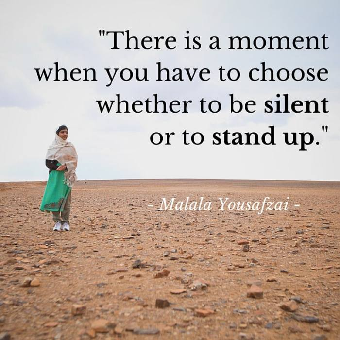 There is a moment #withMalala
