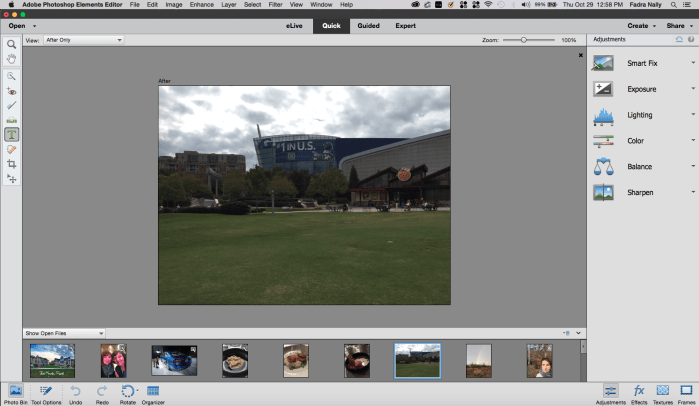 Adobe Photoshop Elements 14 interface