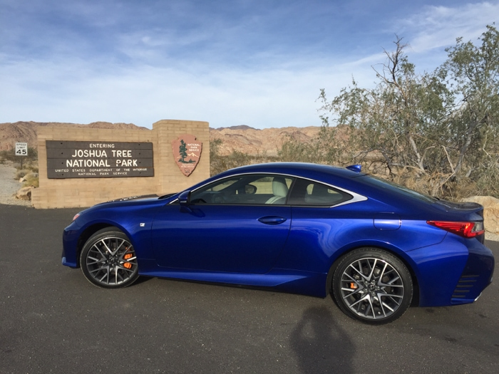 Lexus RC F at Joshua Tree National Park