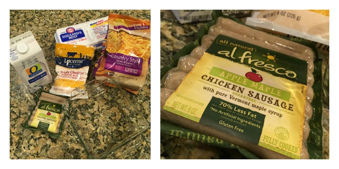 Ingredients for Sausage, Egg, and Hash Brown Casserole