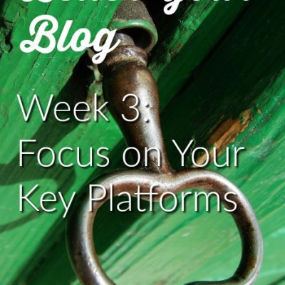Better Your Blog Week 3: Focusing on Your Key Platforms