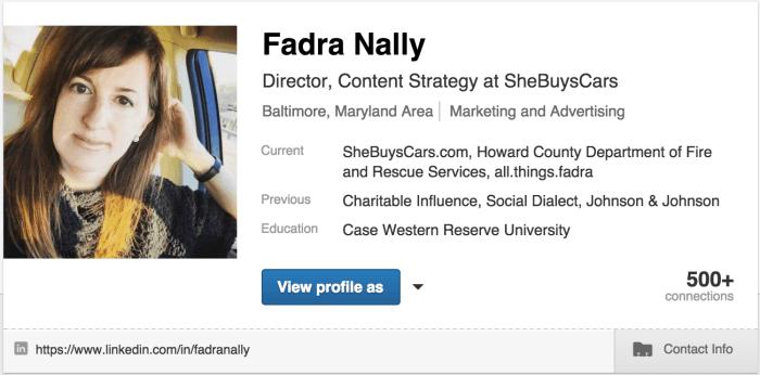 LinkedIn - Fadra Nally