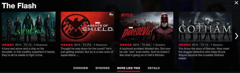 Superhero shows on Netflix