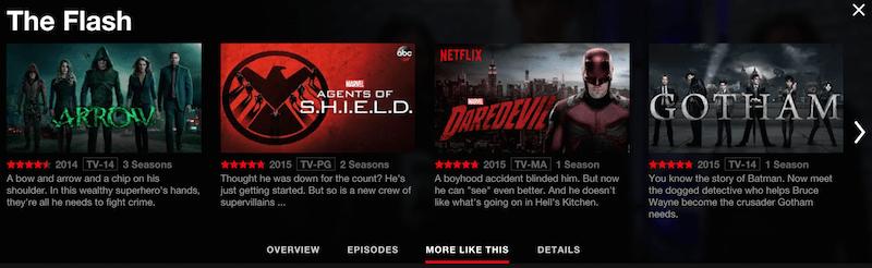 Superhero shows on Netflix