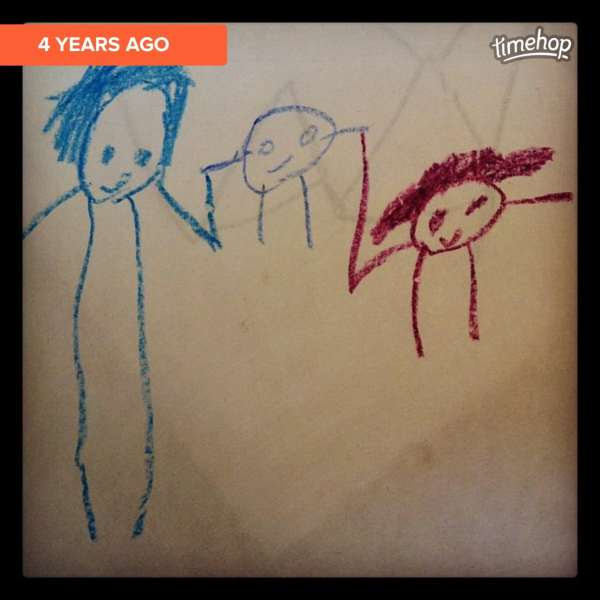 Evan's picture of family