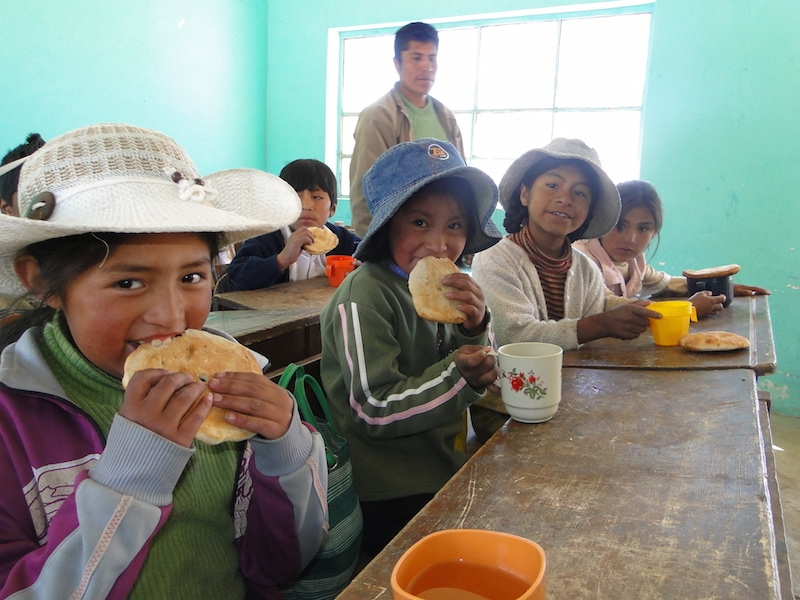 Sharing A Sweet Future with Bolivian schoolchildren
