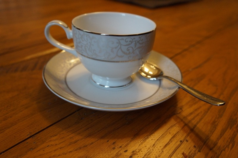 Tea cup in the dining room