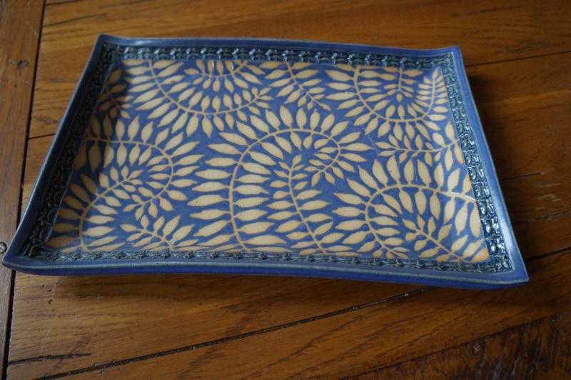 Handmade pottery tray