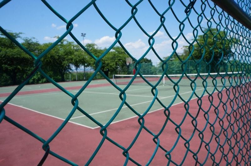 Tennis court at Hershey Lodge