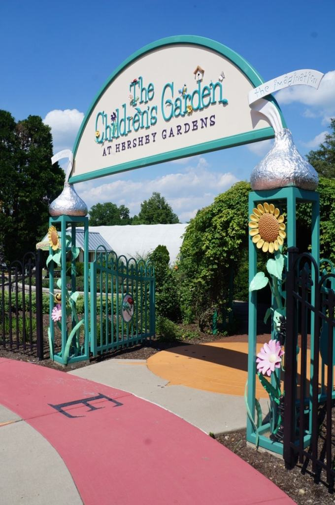 Hershey's Kisses greet you at The Children's Garden