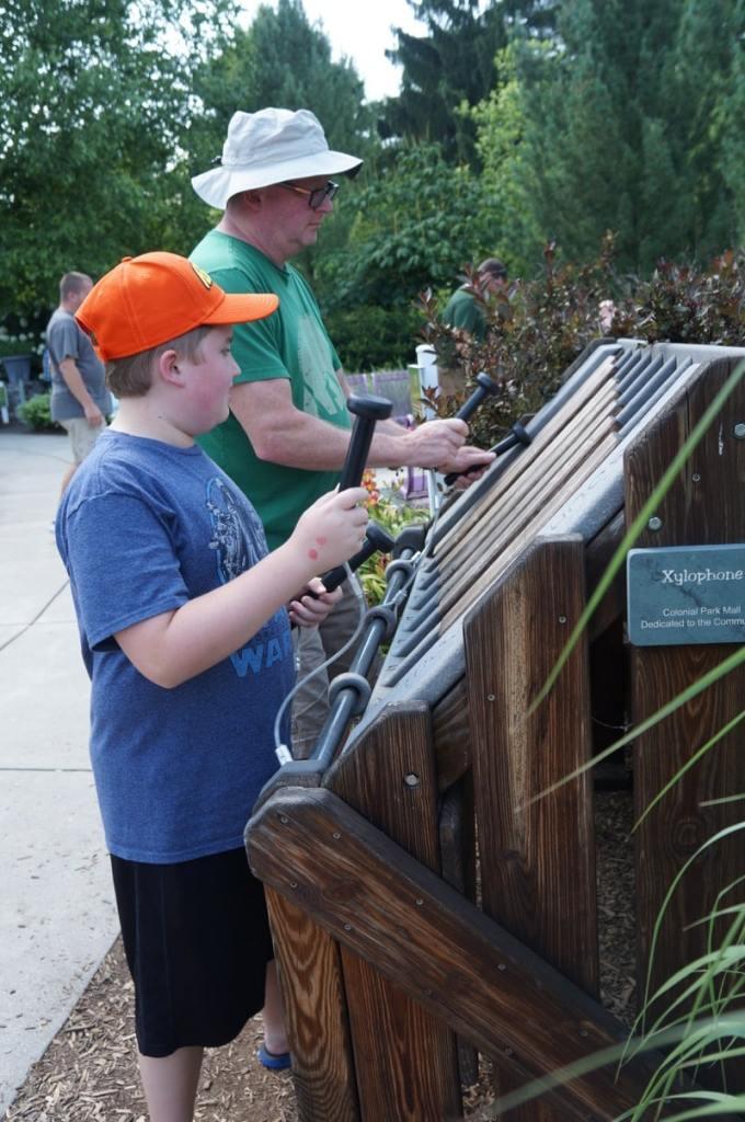 Musical instruments in the Children's Garden