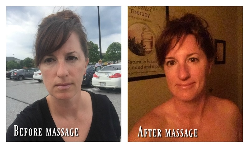 Massage before and after - Massage Envy