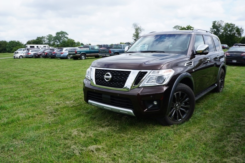 """""""Off roading""""in the Nissan Armada"""