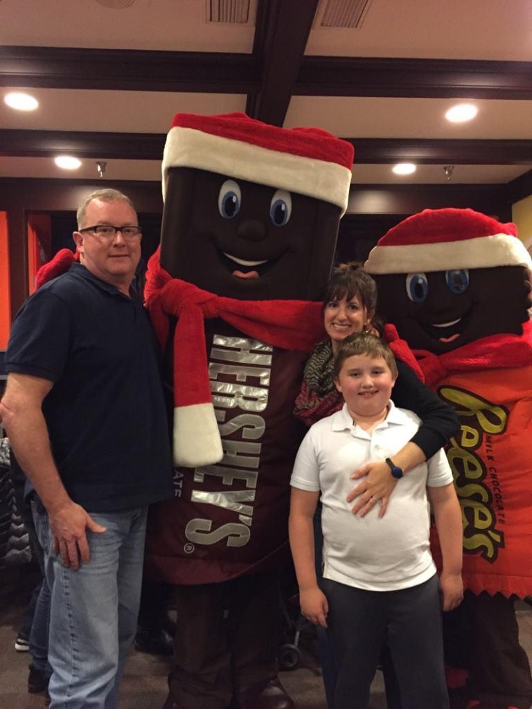 My family at Hersheypark Christmas Candylane