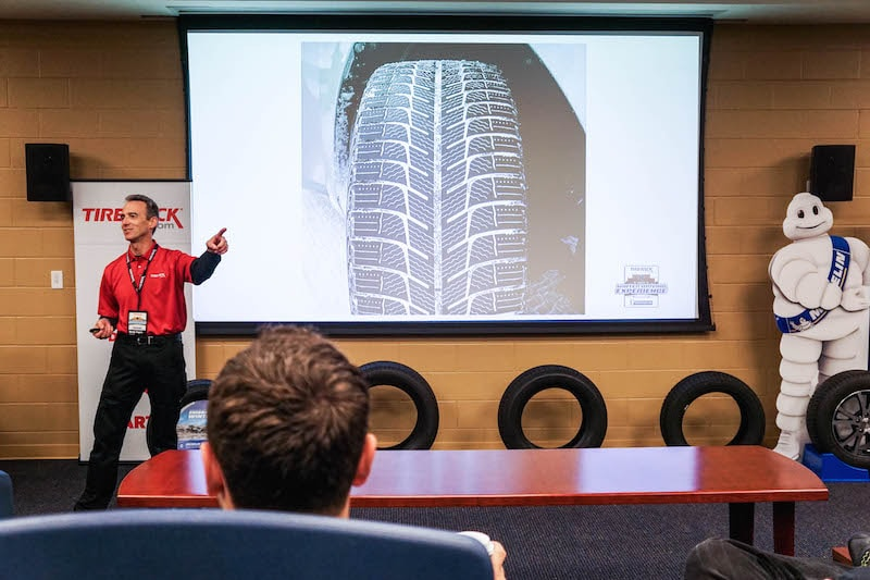 Explaining the details of a winter tire