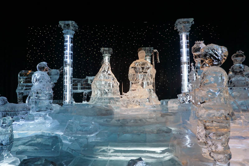 ICE! Crystal Nativity Scene