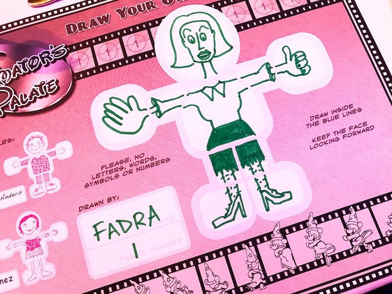 Animated figure at Animator's Palate - Disney Wonder