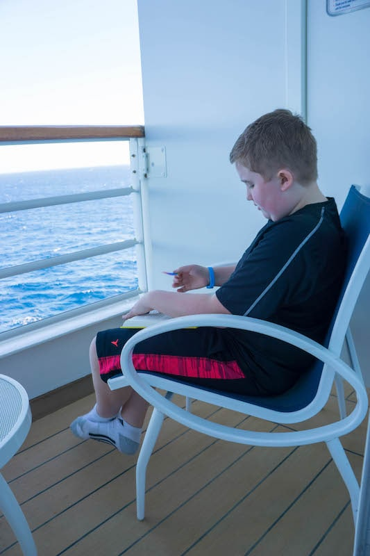 Reading on the Verandah - Disney Wonder