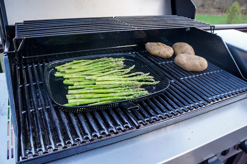 Grilling vegetables on the Car-Broil grill