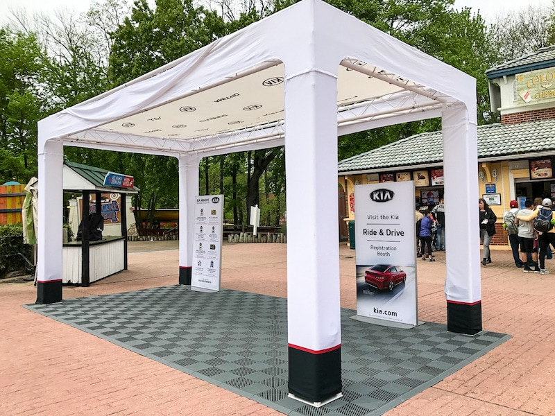 Kia Ride and Drive reception in the park