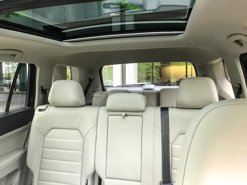 VW Atlas rear seat