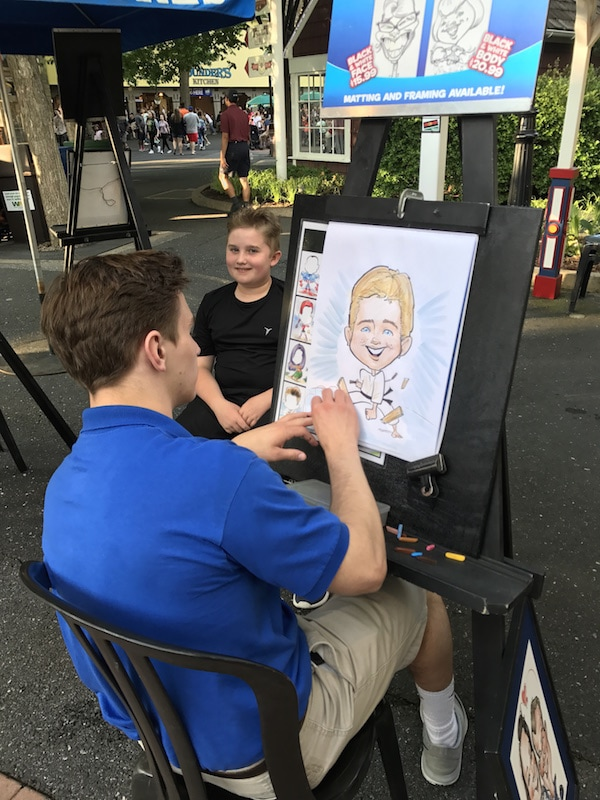 Evan gets a caricature