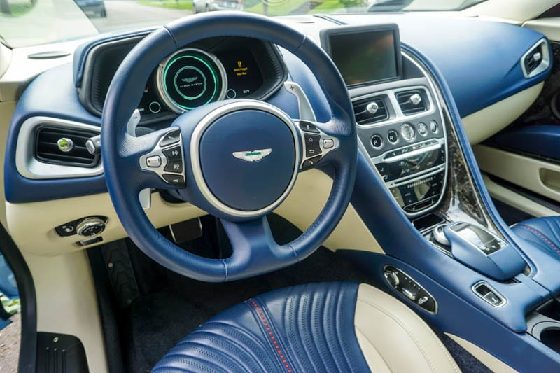Aston Martin interior - Heels & Wheels