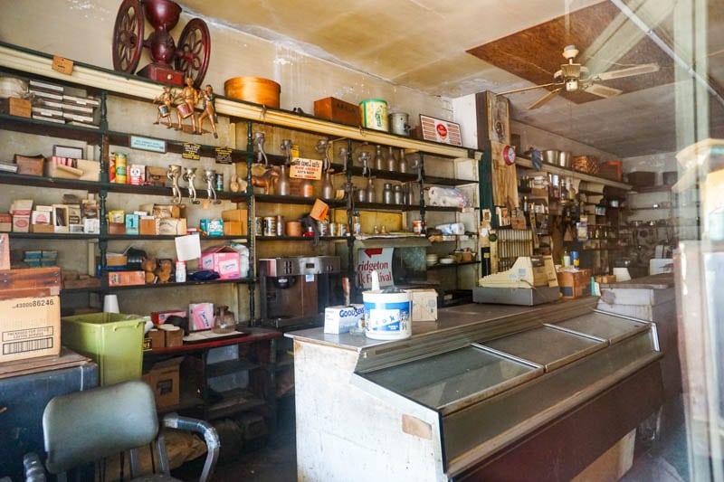Inside Richardson's store