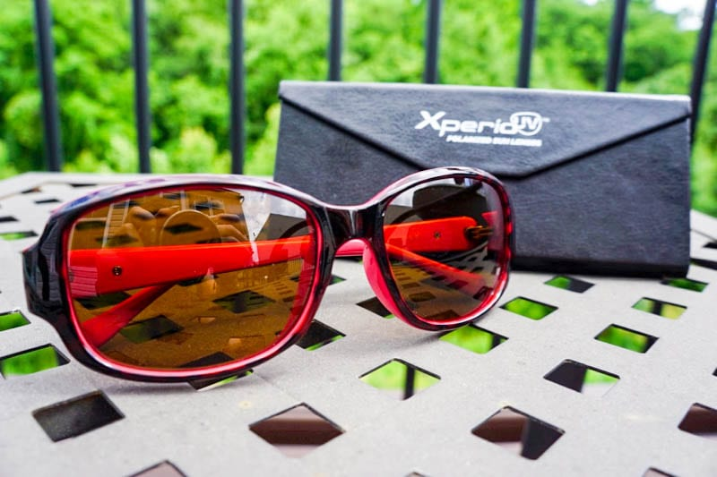 Sunglasses with Xperio UV polarized sun lenses and case