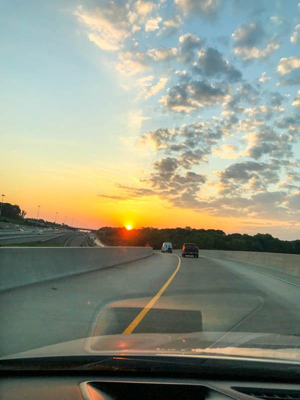 Sunrise over 695