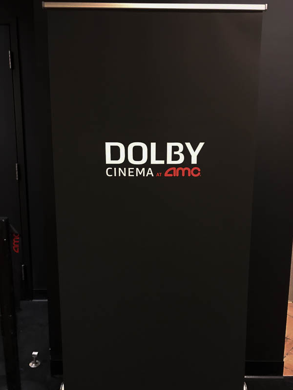 Dolby signage at the AMC theater