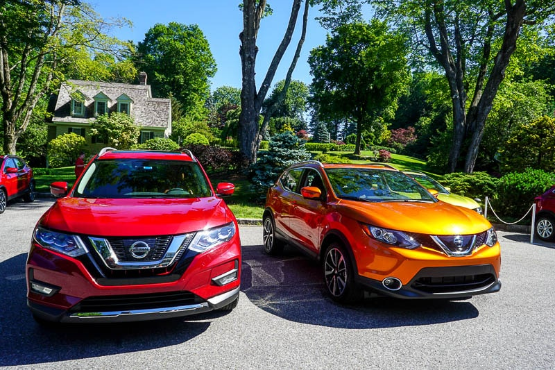 Nissan Rogue Sport and Rogue - front comparison