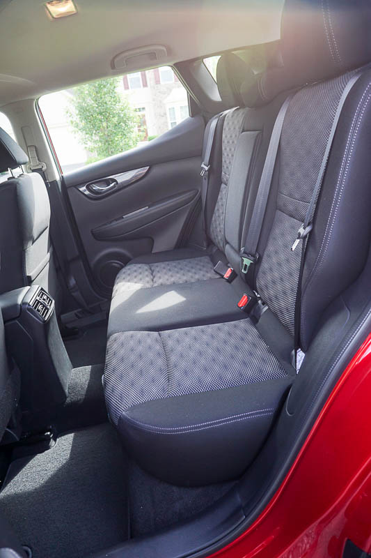 Nissan Rogue Sport - back seat