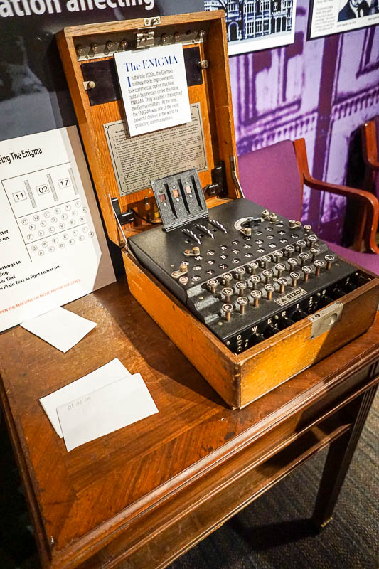 Enigma machine used in WWII