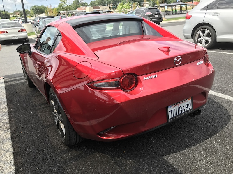 Mazda Miata MX-5 RF top up