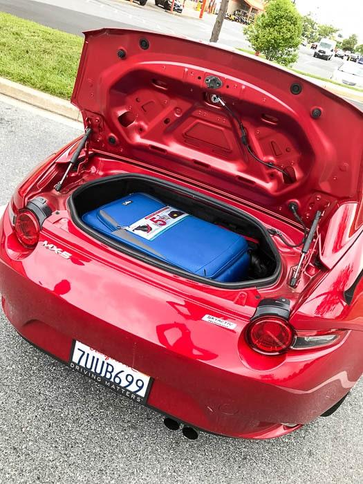 Mazda Miata MX-5 RF trunk space