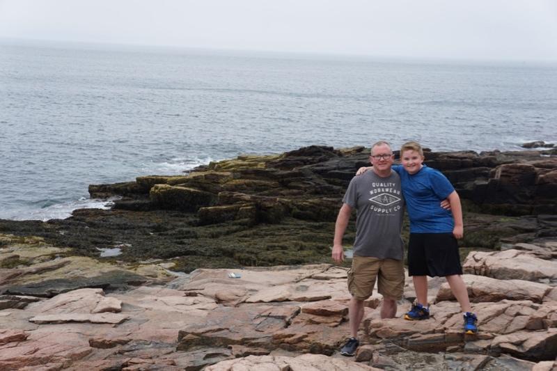 Rock climbing in Maine